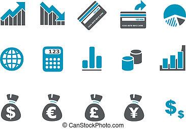 dinero, conjunto, icono