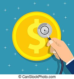 dinero, consultar, arriba, empresa / negocio, cheque
