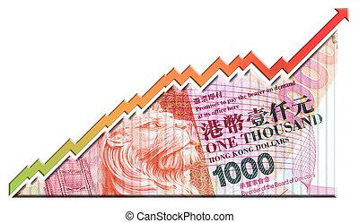 dinero, crecimiento, gráfico