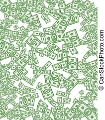 dinero, dólares, pattern., plano de fondo