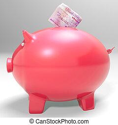 dinero, entrar, piggybank, exposiciones, ahorro, incomes