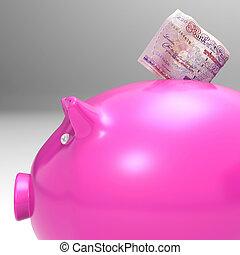 dinero, entrar, piggybank, exposiciones, inversiones