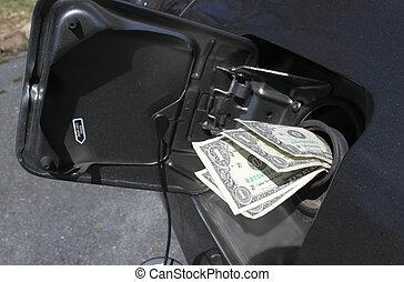 dinero,  gas