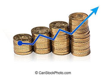 dinero, gráfico