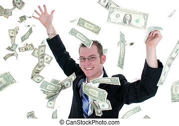 dinero, hombre de negocios