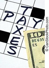 dinero, impuesto, aparejar, paga
