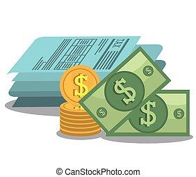 dinero, impuestos