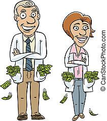 dinero, médico