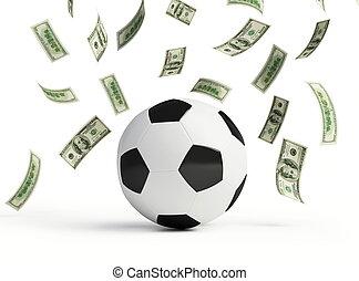 dinero, marca, fútbol