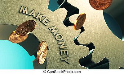 dinero, marca, financiero, plano de fondo