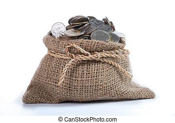 dinero, moneda, depósito, para, inversión
