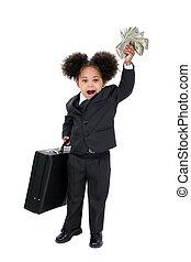 dinero, niña, niño
