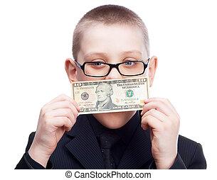 dinero, niño