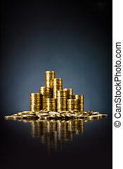 dinero, oro