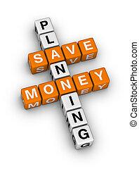 dinero, planificación, excepto