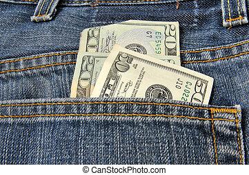 dinero, pocketful