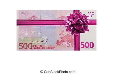 dinero, regalo, 500, euro