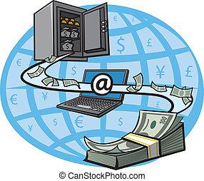 dinero, transferencia