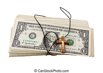dinero, y, religión