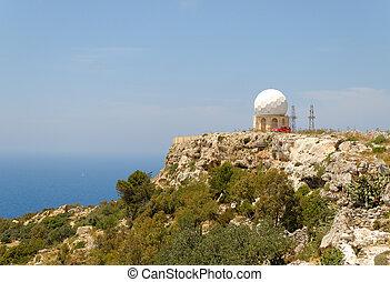 Dingli Radar  - Radar dome at the Dingli Cliffs on Malta.