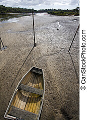 Dingy at low tide