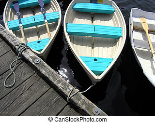 dingys - turquoise boats