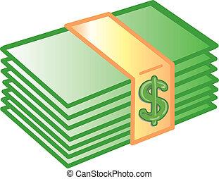 dinheiro, ícone