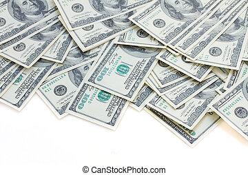 dinheiro, borda, dólar