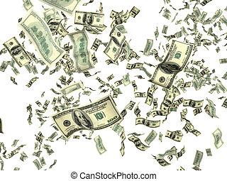 dinheiro, branco