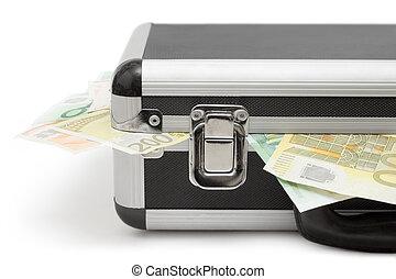 dinheiro, caso, fim, vista