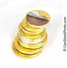 dinheiro chocolate