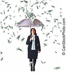 dinheiro, chuva