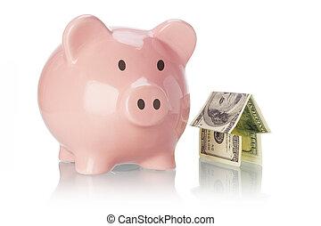 dinheiro, cofre, casa