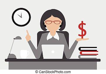 dinheiro, conceito, negócio, tempo