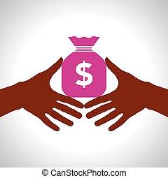 dinheiro, conceito, salvar