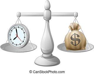 dinheiro, conceito, tempo