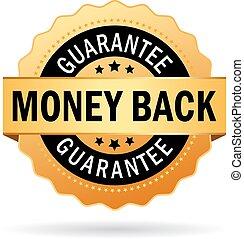 dinheiro, costas, garantia