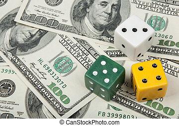 dinheiro, diferente, cores, fundo, dices