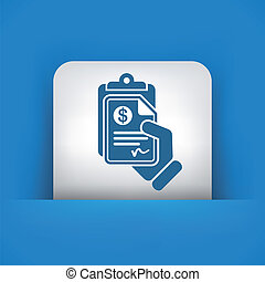 dinheiro, documento, ícone