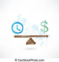 dinheiro, equilíbrio, tempo