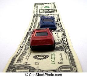 dinheiro, estrada