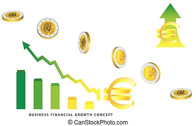 dinheiro euro, crescimento