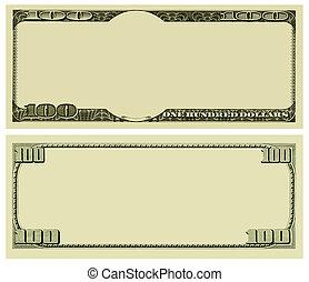 dinheiro, fundo, em branco