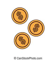 dinheiro, imagem, dinheiro, relatado, ícones