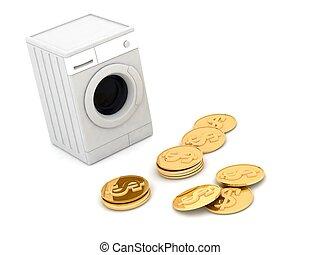 dinheiro lavando