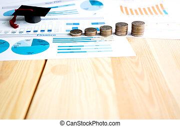 dinheiro, mapa, e, formatura tapa