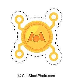 dinheiro, mastercoin, dourado, digital