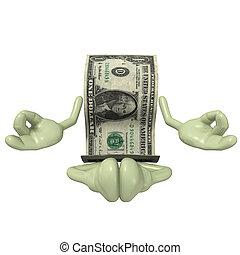 dinheiro, meditação