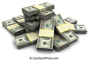 dinheiro, montão
