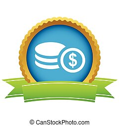 dinheiro, ouro, logotipo